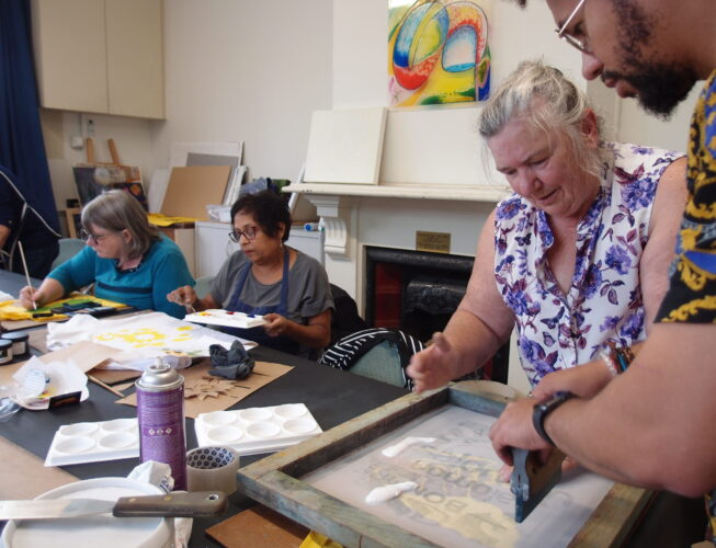 Screen Printing with Carmel