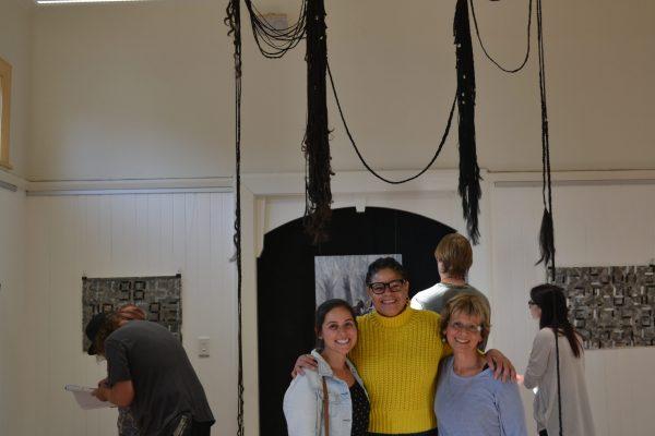 Linwood Arts volunteer, Adriana, exhibiting her work